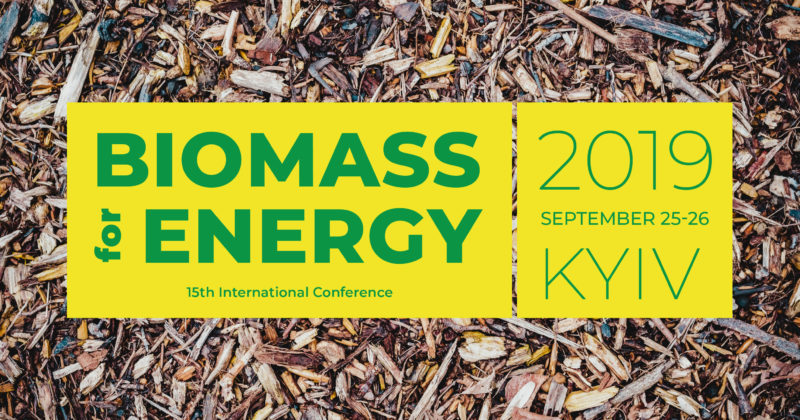 "15th International Conference ""Biomass for Energy"", September 24-25, 2019"