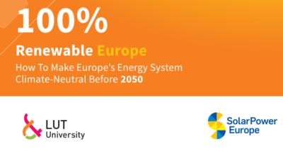 100% Renewable Europe (SolarPower Europe, April 2020)